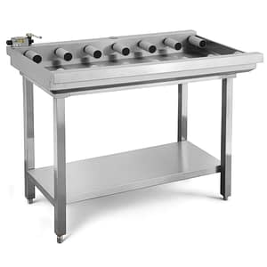 commercial stainless steel roller table