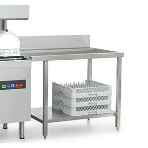 stainless steel exit dishwasher table