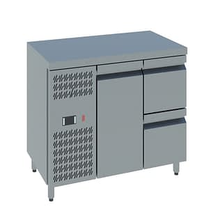 Single door with Two Drawers Undercounter chiller