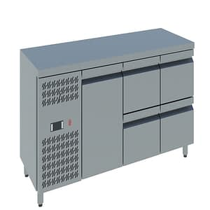 Single door with Four Drawers Counter Chiller online