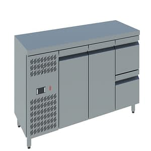 Two doors with Two Drawers Counter Chiller online