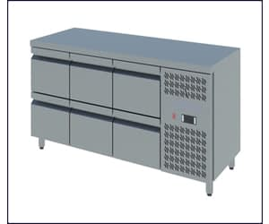 Counter Freezers with Drawers