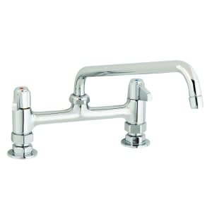 T&S 5F-8DLX08 deck mount faucet with 8 swing nozzle