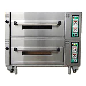 Two deck electric baking oven