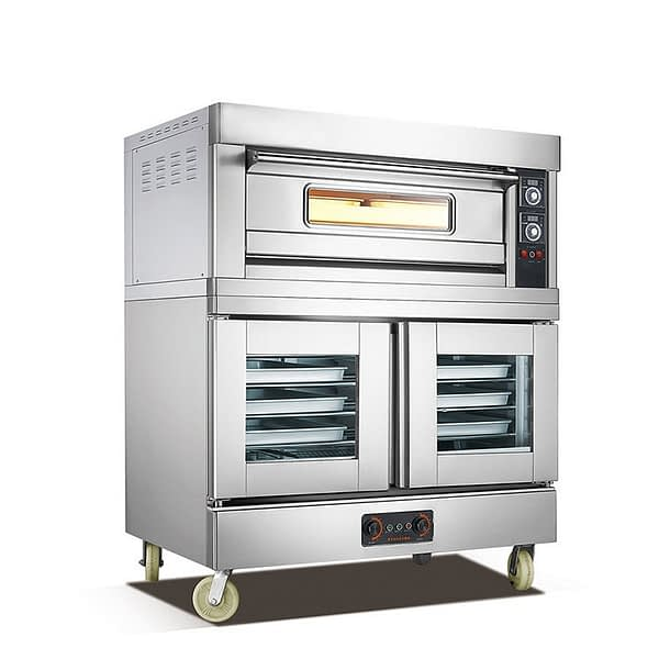 electric baking oven with two tray